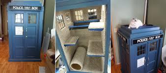 Cat Playhouse Designs Tardis Cat Playhouse Diy Icreatived