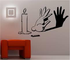 Modern Bedroom Wall Art Details About Rabbit Shadow Graffiti Wall Art Sticker Lounge