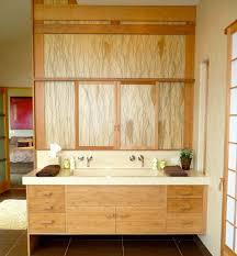 modern bathroom vanity ideas. View In Gallery Artistic Floating Bathroom Vanity Draped Extensively Light Grain Wood Modern Ideas