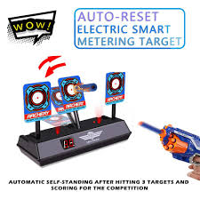 Light Blue Nerf Guns Us 9 08 50 Off Electronic Digital Target For Nerf Guns N Strike Elite Mega Rival Series Auto Reset Intelligent Light Sound Targets Toys Hot In Color