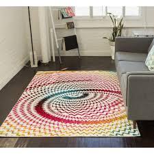 well woven viva kaleidoscope multi 8 ft x 10 ft contemporary area rug