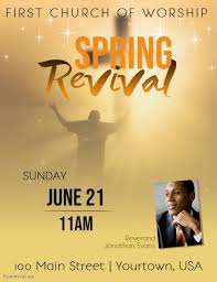 Church Revival Images Spring Church Revival Event Flyer Template Postermywall