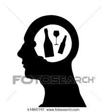 男性の頭部 シルエット クリップアート