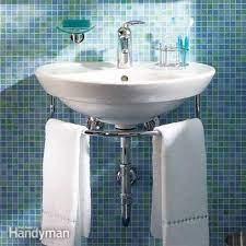 Installing A Bathroom Sink Wall Hung Sink Diy