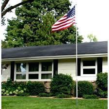 front yard flag pole poles kit flagpoles residential set ideas diy landscape around flagpole gar