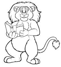 Small Picture Coloring Pages Animals Cartoon Lion Coloring Page Lion Coloring