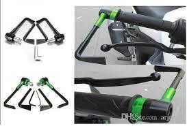 cnc aluminum motorcross plastic handguard hand guard grips handlebar for kawasaki klx250 1993 2007
