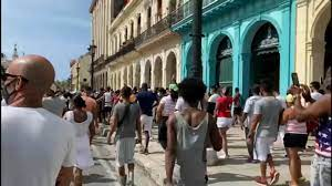 Cuba react to demonstrations ...