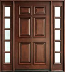 front double doors external glass panel for with wooden exterior used