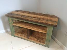 Rustic Corner TV Stand/Console by CharmingCountryFinds on Etsy