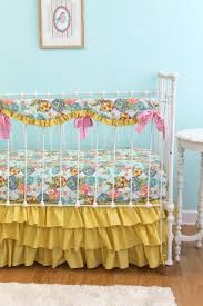 Bumperless Baby Girl Crib Bedding Lilly Belle by LottieDaBaby, $355.00