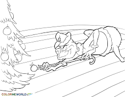 The Grinch Coloring Pages Free Printable The Grinch Pdf Coloring
