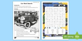 Word Cars Car Brands Word Search July Amazing Fact Makes Of Cars Words
