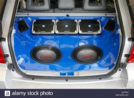 custom car audio systems. custom car audio system in the boot of a systems