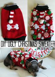 diy ugly sweater for dogs by irresistiblepets com