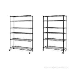 sandusky lee mws481874 b 6 tier wire shelving unit with 3 rubber casters 6
