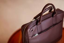 ledaveed leather briefcase bag top down