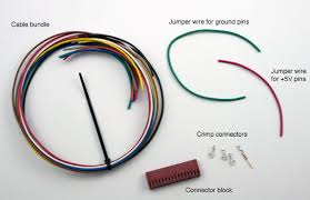 lecture wiring harness me 121 the cable bundle has nine stranded wires each a different color of insulation the wires are 22 awg and approximately 40 cm 16 inches long