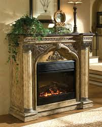 electric fireplace with mantel canada corner tv stand stone castlecreek heater