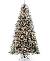Holiday Lane 75u0027 Dark Green Flocked PreLit Christmas Tree Holiday Lane Christmas Tree