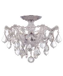 flush mount crystal chandelier. Semi Flush Mount Crystal Chandelier 4 Light Round Drum Chrome Finish 6 | Ege-sushi.com Mount. E