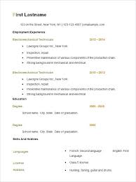 Simple Resume Format Download Free Basic Resume Template Simple