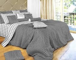 black and white check bedding modern houndstooth comforter cover duvet set by dolce mela dm497 king