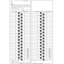 100372 Semi Monthly Start Day 1st Or 16th Time Card