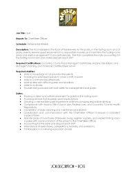 Hostess Resume Skills Resume For Your Job Application