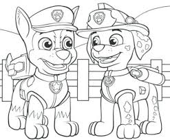 Amazing Marshall Paw Patrol Coloring Page Featured Free Paw Patrol