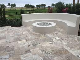 travertine tile patio silver t30 patio