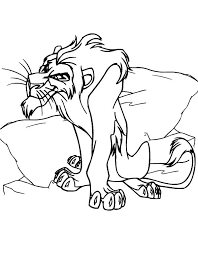 Scar Coloring Page Simba And Pages Fortnite Mtkguideme