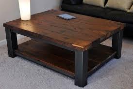 wood coffee table rustic farmhouse