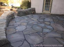 modern flagstone patio in chester springs 19425 artistic hardscaping yewalfr