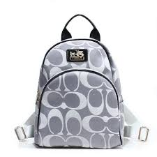 Coach Logo Monogram Small Grey Backpacks FCJ
