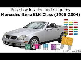 1999 Slk 230 Fuse Diagram Wiring Diagrams