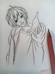 как нарисовать парня аниме рисунки карандашом поэтапно