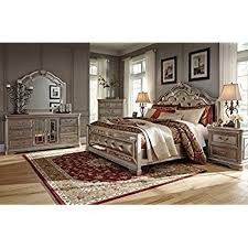 Ashley Birlanny Mirrored Panel Bedroom Set  Queen King or Cal King  5 pc