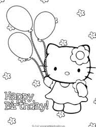Small Picture Hello Kitty Birthday Coloring Pages to Print Printable Treatscom