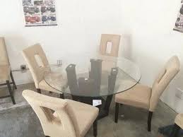 round table delivery west palm glass round table 4 linen chairs free delivery in table delivery