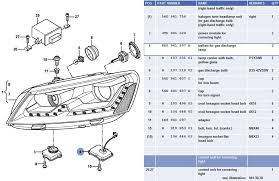 vwvortex com new helix b7 passat bi projector headlight kit as you can see from the etka diagram these are the same design as the oem 56d941754