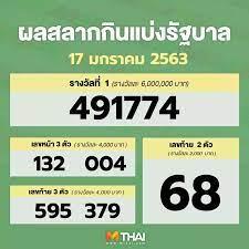 ตรวจหวย   ตรวจหวย MThai.com งวด 17 มกราคม 2563