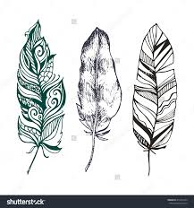 navajo tattoo designs. Hand Drawn Set Of Beautiful Stylish Ethnic Feathers Tattoo Design Save To A Lightbox Navajo Designs