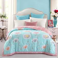 quilt sets modern luxury bedding pink white blue colored in shades quilt thin square blanket