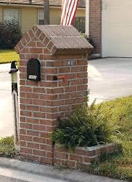 stone mailbox designs. Stone Mailbox Post Various Optional Features Of Brick Designs Home Design Studio Eye Level Gray .