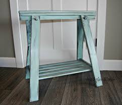 green saw horse desk legs image for diy desk idea