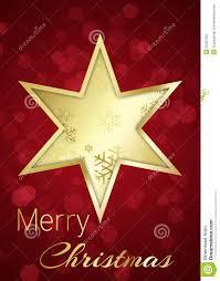 Goldener Weihnachtsstern Auf Rotem Bokeh Hintergrund Stock
