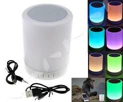 Details About Wireless Led Light Mini Bluetooth Speaker Touch Sensor Led Table Lamp Speaker