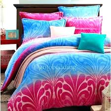 pink turquoise comforter navy blue and set hot