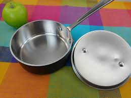 all clad ltd. All-Clad LTD Stainless 1 Quart Sauce Pan With Lid - Used Clean All Clad Ltd